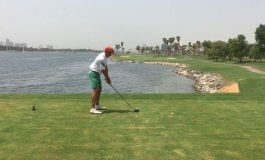 AYYY... el hoyo 18 de Dubai Creek Golf by Salvador Paya. Mena Tour